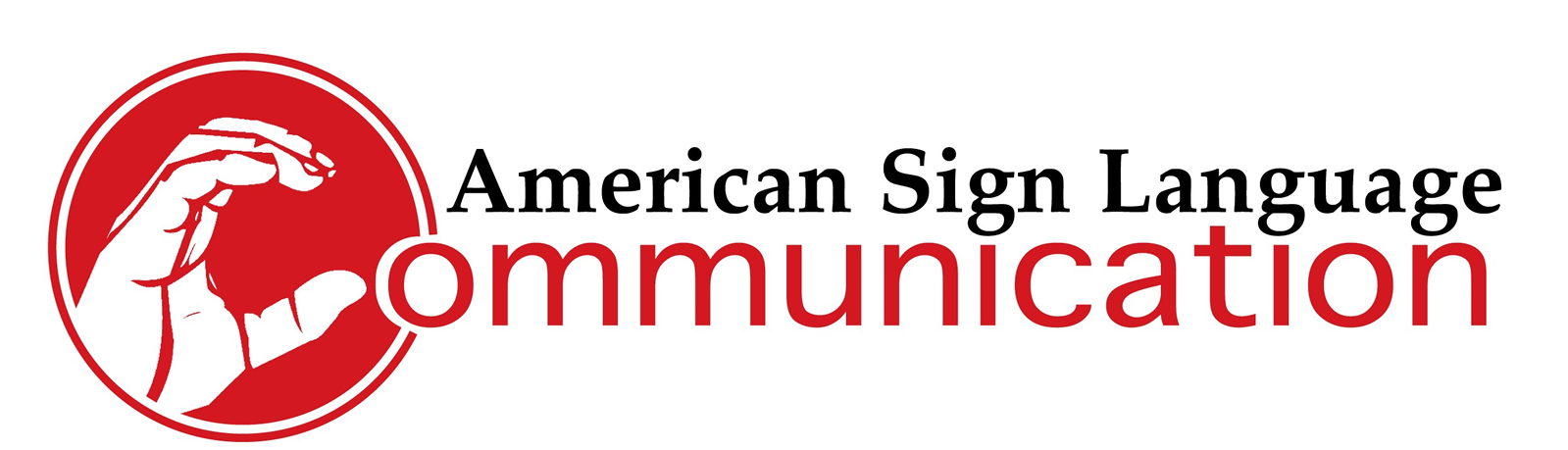 ASL Communication logo (finger spelled C starts the word Communication)